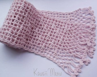 SALE Organic Cotton Stole Scarf - Purple -