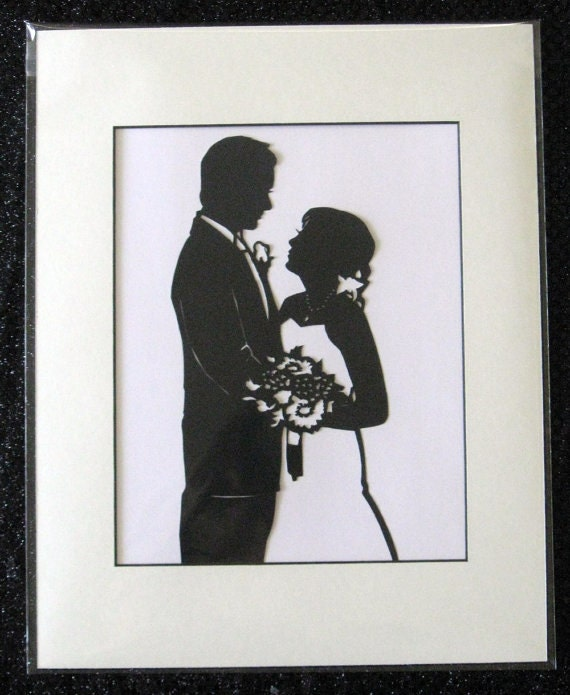 Engagement Silhouette Custom Hand Cut Original
