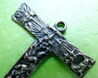 Tau cross of St Francis  solid sterling silver