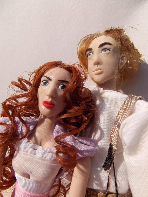 Jack & Rose: Titanic OOAK Original Poseable Artist's Dolls