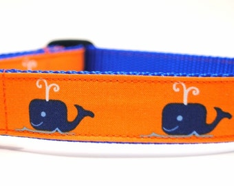 Whale Dog Collar/ Jonah's Whale/ Nautical Dog Collar