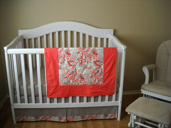 Picture Frame Baby Quilt Blanket - Custom Made, 100s of Fabrics to Choose From,  by Cottage Belles