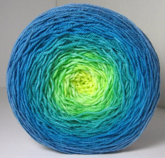 Sock Garden Party Cake - Hand Painted Tonal Yarn - WOW, Gorgeous