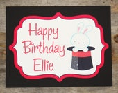 Party Sign - Customized Magic Show Party Decor by The Birthday House