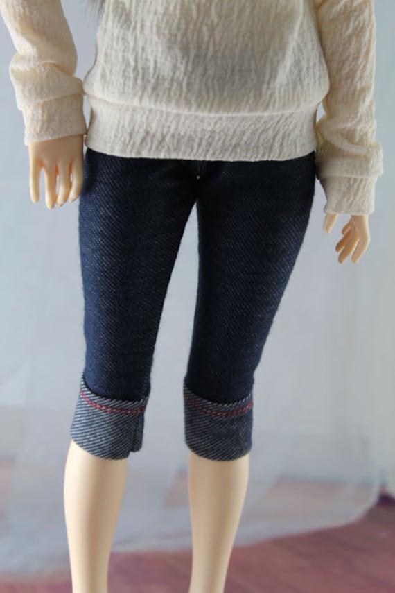 Stretch Jeans for 1/4 Dollfie, MSD BJD, Minifee