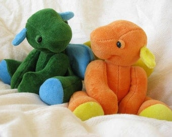 Little Bit Dragon Plush PDF Sewing Pattern