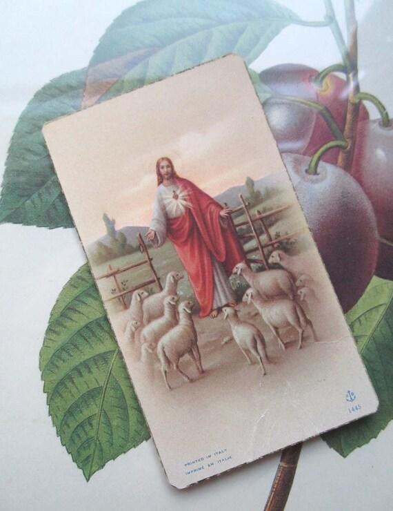 Vintage Jesus Card Italy