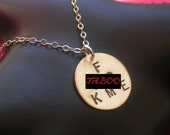 F .CK ME Necklace--Brass Disc Necklace, Round Charm Necklace, Brass Pendant, Mature, Slut, Whore, Metal Taboo