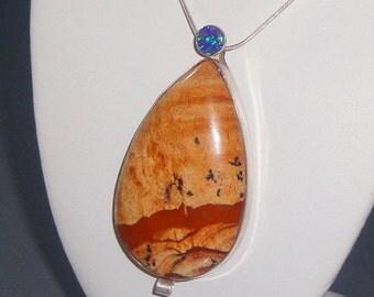 Jasper Opal Interchangeable Brooch Necklace Pendant