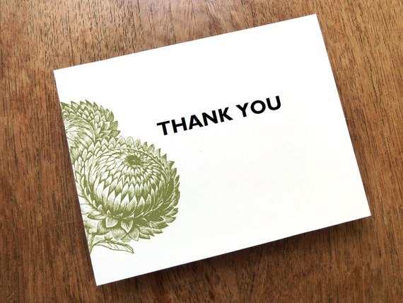 INSTANT DOWNLOAD - Thank You Note Printable - Thank You Card Template - PDF Thank You Card - Print at Home - Modern Rustic Thistle Card