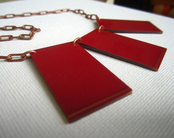 Stunning Upcycled Red Circuit Board Necklace