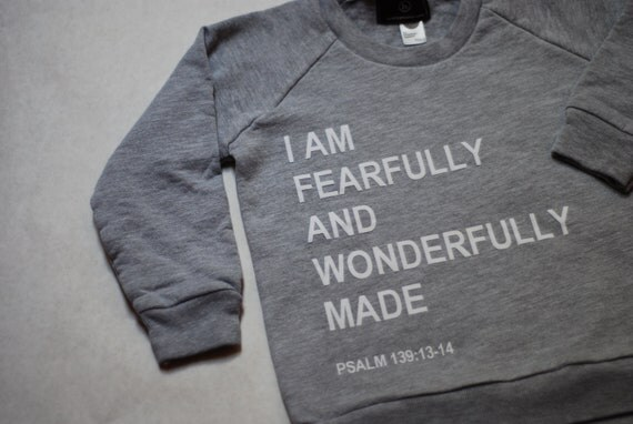 fearfully and wonderfully made pullover