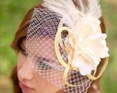 Bridal Fascinator Veil COTTAGE  BRIDE