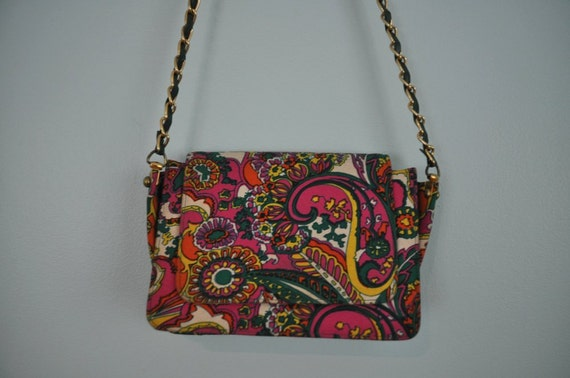 vintage 1960's purse mod shoulder bag psychedelic