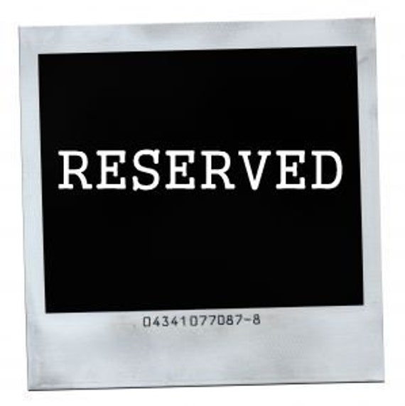 Reserved Listing for Amber Beadles