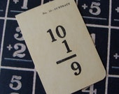 1930s  Very Small Antique Flash Card Lot of 10