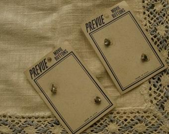 Antique Rhinestone Button Card Lot