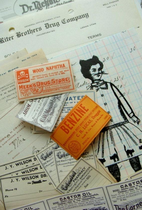 Vintage and Antique Medical Ephemera 24pc Lot Limited Supply Last One