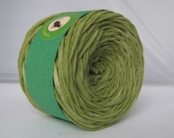 T Shirt Yarn Hand Dyed-  Sour Apple 60 Yards