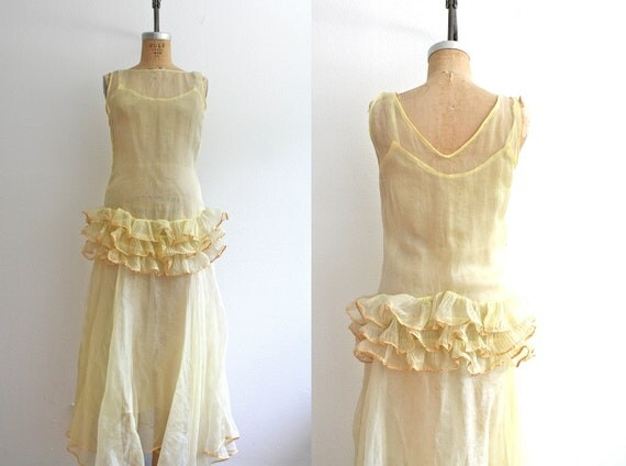 1930s dress : 30s evening dress - Jasmine in the air