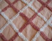 Vintage Chenille Fabric - Peach, Cinnamon and Vanilla