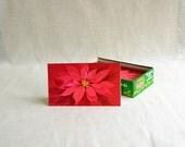 Poinsettia Christmas Card Set