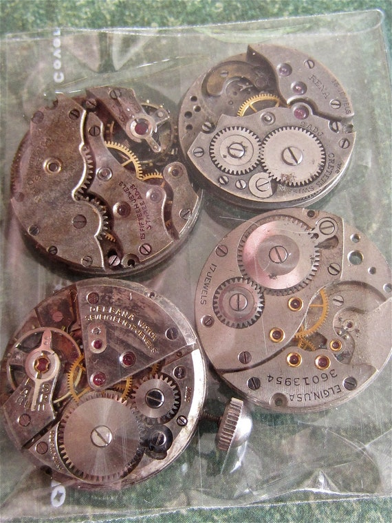 STeampunk watch parts - Vintage Antique Watch movements Steampunk - Scrapbooking s2