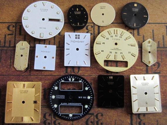 Vintage Antique Watch  Assortment Faces - Steampunk - Scrapbooking b67
