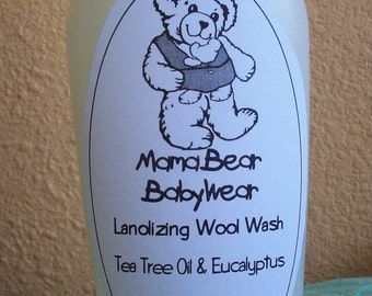 MamaBear Lanolizing Wool Wash For Hand or Machine Washing - 8.5 oz
