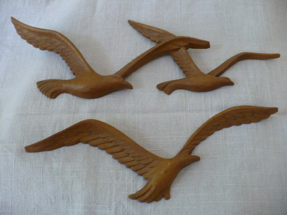 Vintage Seagull Wall Plaques