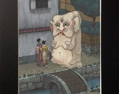 Nurikabe (signed, matted, fine art print)