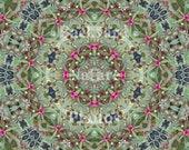 Amaranth Flower Kaleidoscope Note Cards