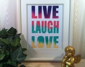 Decor Art,print,Valentines Day gift ideas,live laugh love,Inspirational quote print,inspiration,Motivational quote print