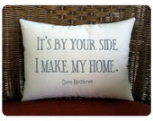 Double sided lyric pillow, Dave Matthews- Loving Wings