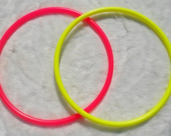 "Best Priced Colored Poly Pro Advanced Mini Twin Hula Hoops - 3/4"" and 5/8"" THiN! Many Colors - Free Sanding and Sandpaper."