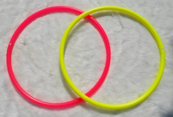 """BeSt PriCeD Colored Poly Pro - Advanced Mini Twin Hula Hoops - 3/4"""" and 5/8"""" THiN!  Many Colors- Free Sanding and Sandpaper"""