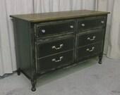 Shabby Black Double Dresser / Chest - Chic  DR703