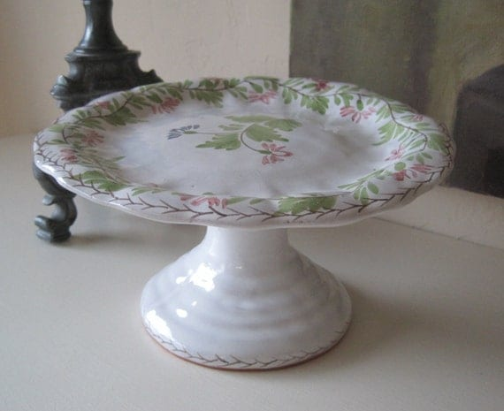 Artis Cake Stand : Vintage Footed Cake Stand Torte Plate Cupcake Display Hand