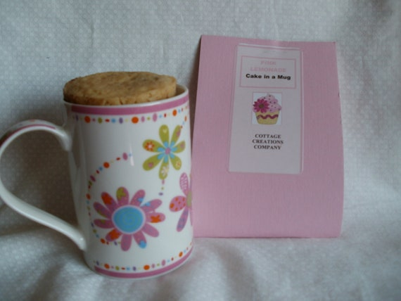N E W Pink Lemonade Cake in a Mug