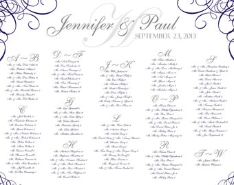 Wedding Seating Chart...PDF File..Swirl
