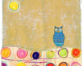 Good Morning  - owl illustration print or note card