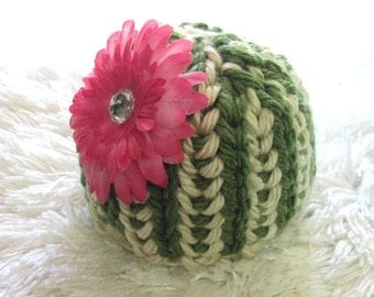 Melon Hat  Knitting Pattern for Preemie  Baby  Toddler and Child