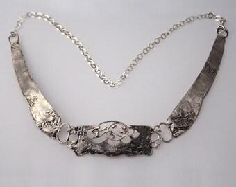Choker, Chokers, Choker necklace,Statement necklace,Stylish Sterling Silver Kabbalah Necklace.
