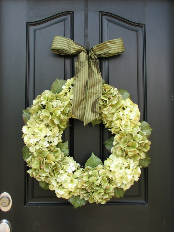 Wedding Decorations Hydrangea Wreath Wreaths Home Decor Hydrangeas Door Wreaths