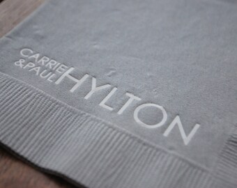 Modern Couple Custm Personalized Paper Cocktail Napkins