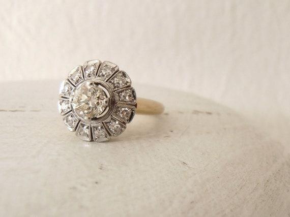 Reserved for McKenzie, Art Deco Diamond Engagement Ring
