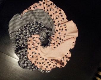 Kitty 50's style fabrics Boutique Ruffle Girls Twirl Skirt 12 - 18 mo. - Redondo Pattern