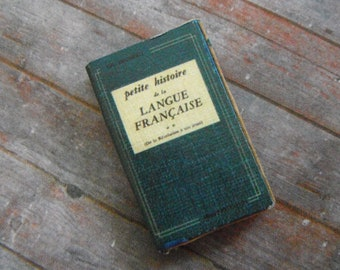 Miniature Book --- History of French Language