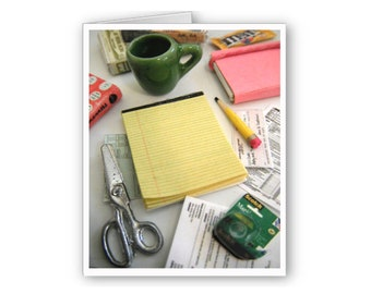 Miniature Office Notecards
