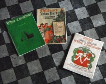 Miniature Christmas Carol Music Sheets